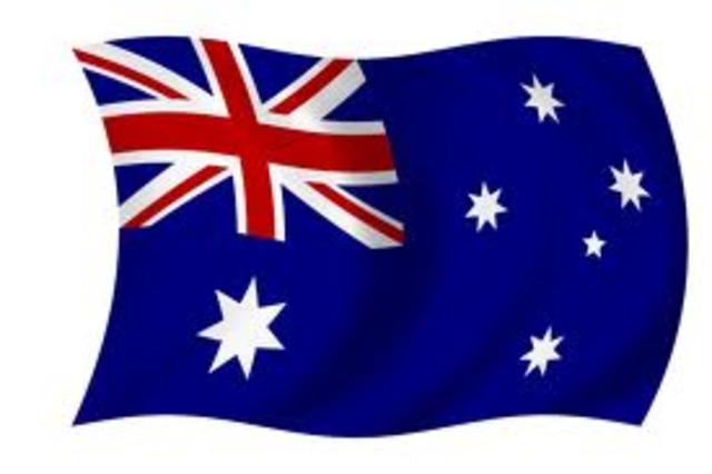 Australiana Flag raised