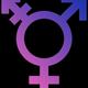 Transgender symbol black background
