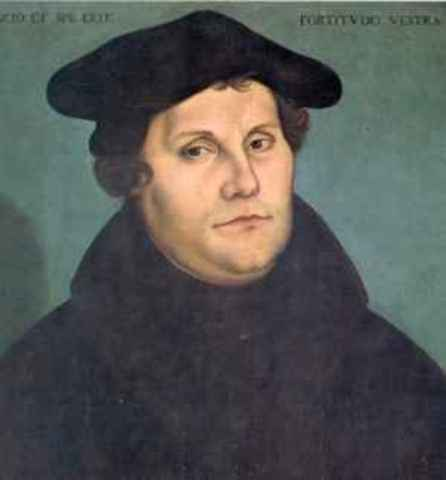 Martín Lutero y las 95 tesis