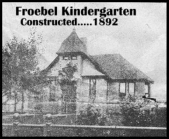 First kindergarten opened by Frobel
