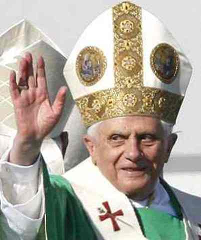 Pope Benedict XVI consecrated