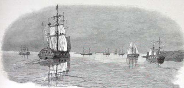 Entire Fleet arives at Botany Bay