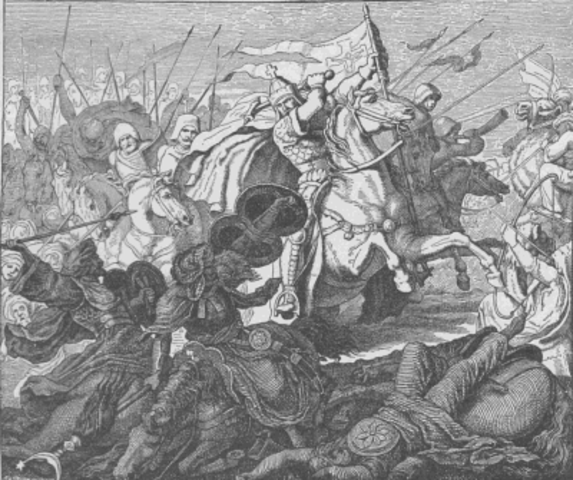 Charles Martel defeats Muslims near Poitiers
