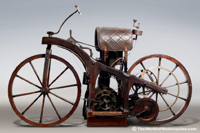First Gas Powered Motorcycle