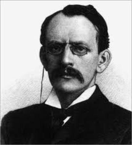Joseph John Thompson discovers the electron particle