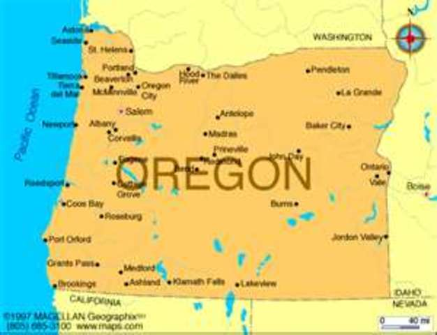 Vacationed in Oregon