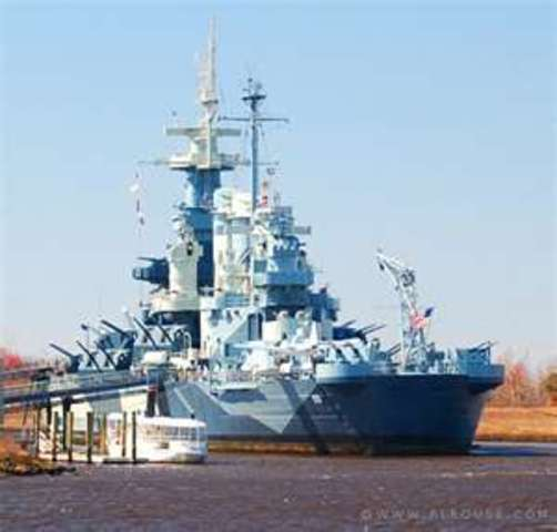 Then my parents came to NC. We visited the USS North Carolina.