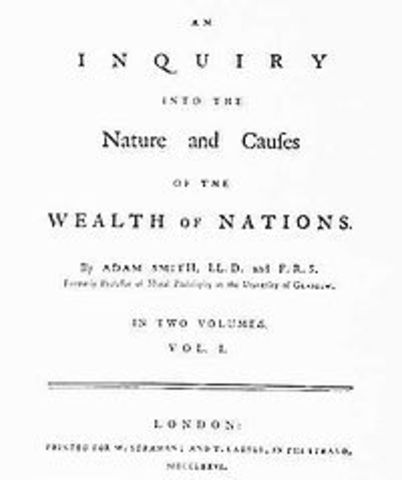 Weath of Nations by Adam Smith Published