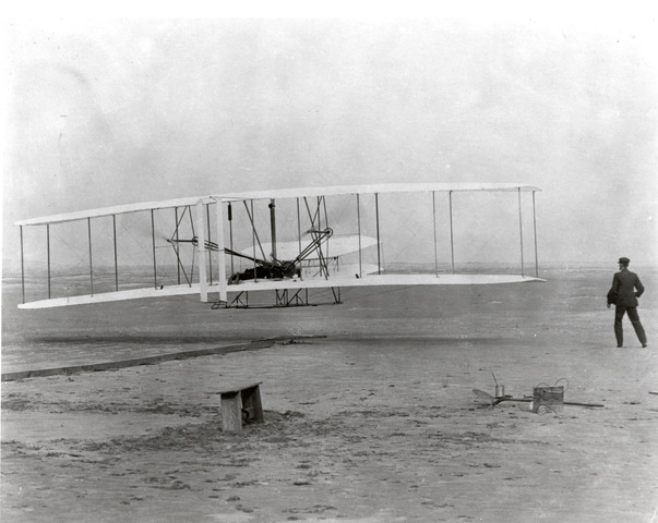 The Wright Brothers invent the airplane