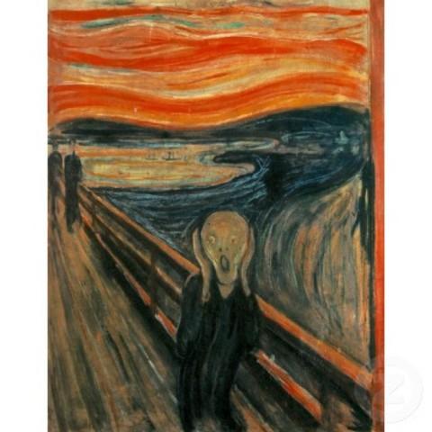 Edvard Munch - The Scream (oil, tempera and pastel on cardboard 91 cm × 73.5 cm)