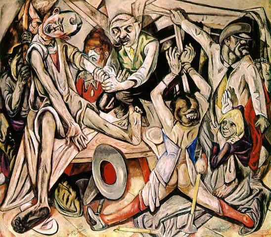 Max Beckmann - The Night (oil on canvas 133 cm × 153 cm)