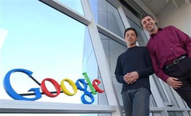 Larry Page and Sergey Brin created Google.