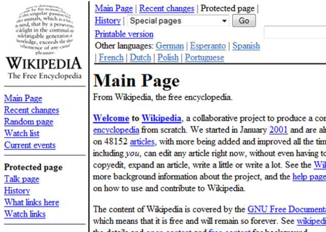 Wikipedia was launched