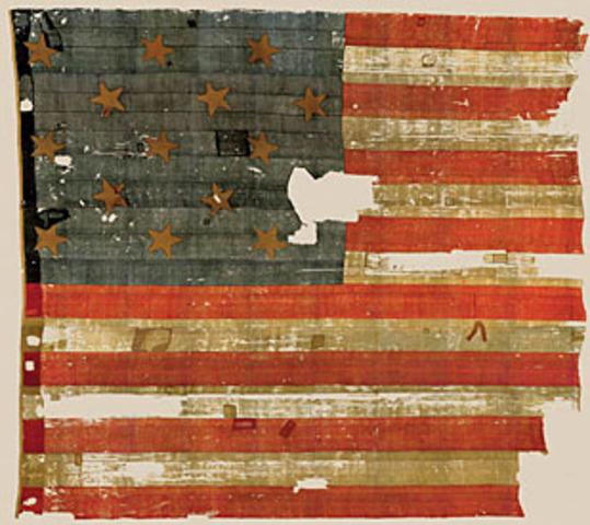 "Creation of the ""Star Spangled Banner"" flag"