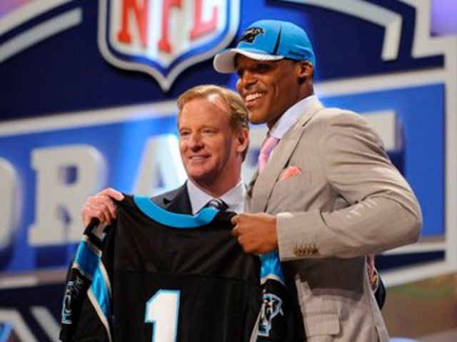 Cam Newton is drafted to the Panthers