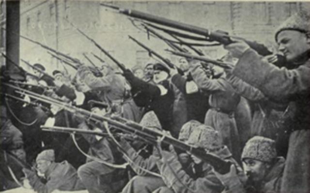 The civil war of Russia