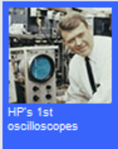 HP produces its first oscilloscopes