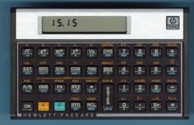 HP's first standard calculator