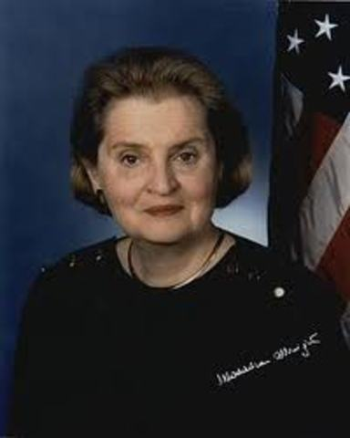 Madeline Abright is the first female secretary of state