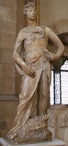 First sculpture of David