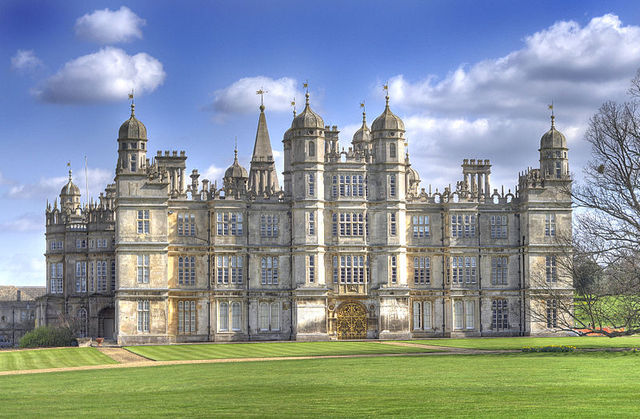 Construction of burghley house end