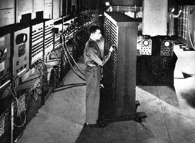 First computer invented- ENIAC