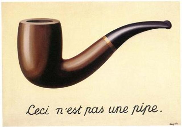 Rene Margritte - Ceci n'est pas une pipe (oil on canvas 63.5 cm × 93.98 cm)
