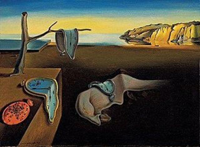 Salvador Dali - Persistence of memory (oil on canvas 24 cm × 33 cm)