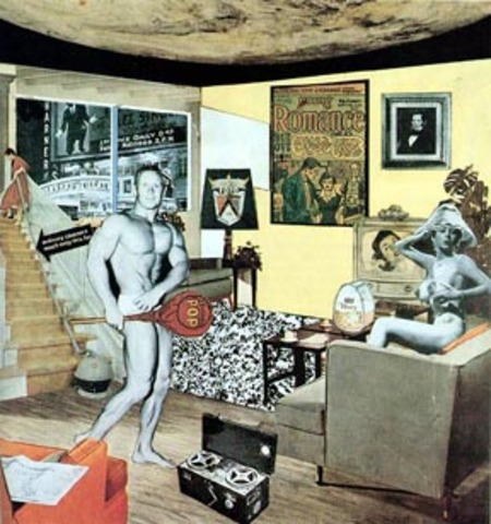 Richard Hamilton - Just What Is It that Makes Today's Homes So Different, So Appealing? (collage 26 cm × 24.8 cm)