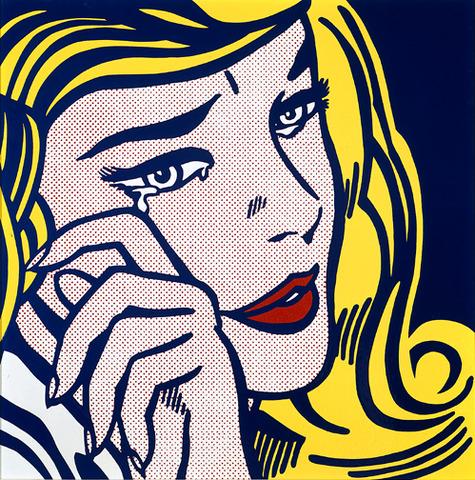 Lichenstein - Crying Girl (enamel on steel 116.8 x 116.8 cm)
