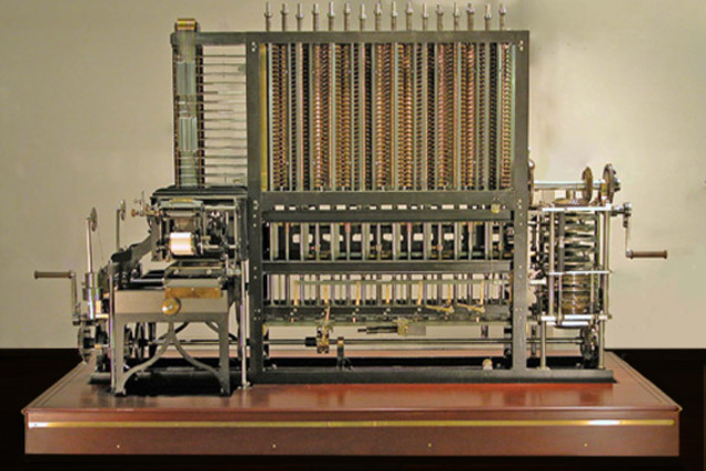 Difference Engine- first mechanical or automatic computer