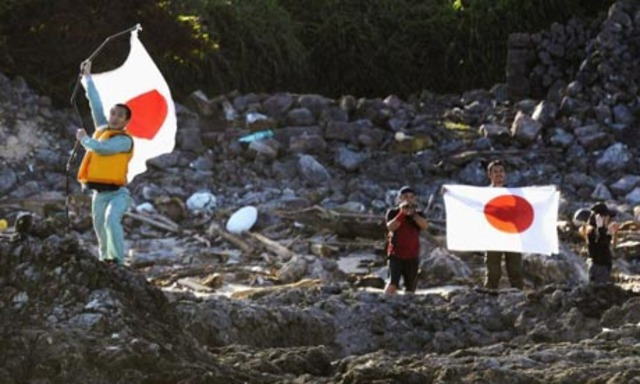 Japan activist land on the islands