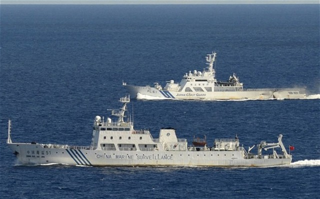 Chinese ships enter waters near the islands