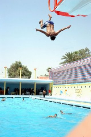 diving at pool