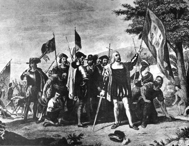 Christopher Columbus land in North America