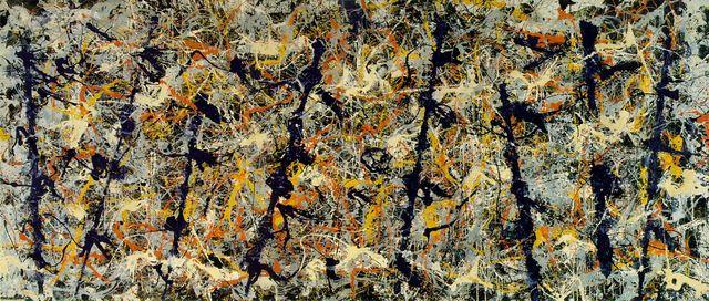 Jackson Pollock - Blue poles: number 11 (oil on canvas 210 cm × 486.8 cm)