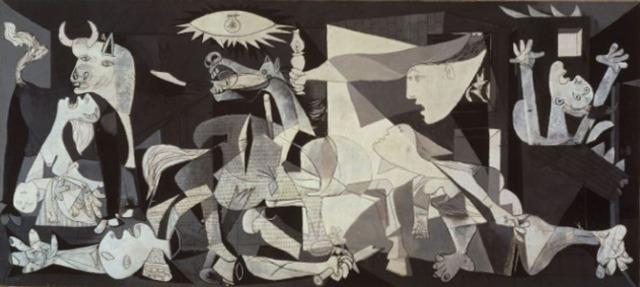 Pablo Picasso - Guernica (oil on canvas 349 cm × 776 cm)