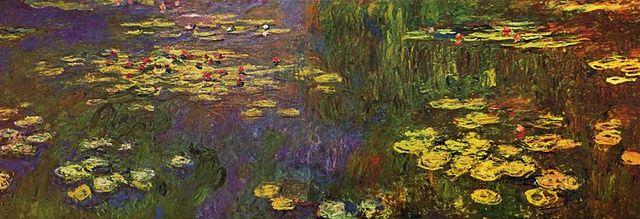 Claude Monet - water lilies series (oil on canvas 1920, 200 × 1,276 cm)