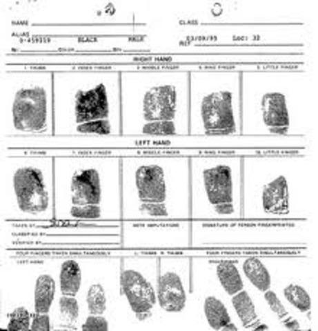 the history of fingerprinting forensic chemistry timeline timetoast timelines. Black Bedroom Furniture Sets. Home Design Ideas