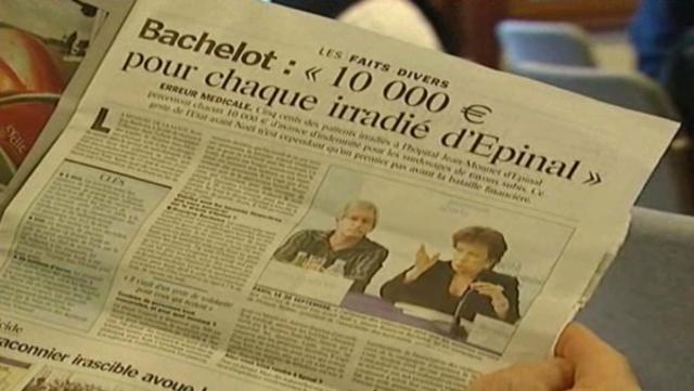 Roselyne Bachelot annonce qu'une avance d'indemnité de 10.000€ sera versée à 500 irradiés d'Epinal.
