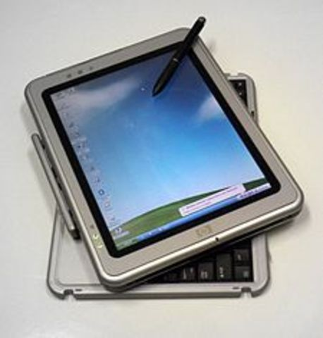 The first Microsoft Tablet PC's are released