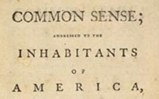 Publishing of the Common Sense