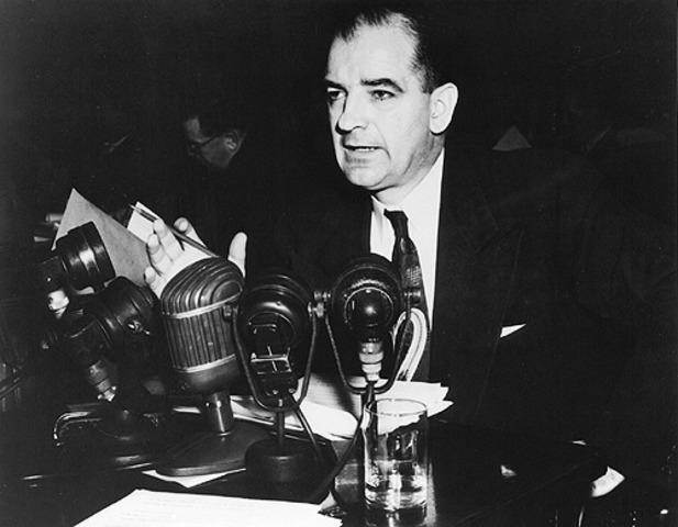 Senator McCarthy's Communist Witch hunts