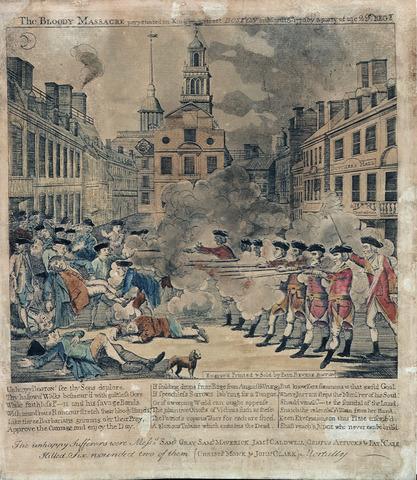 Boston massacre date in Perth