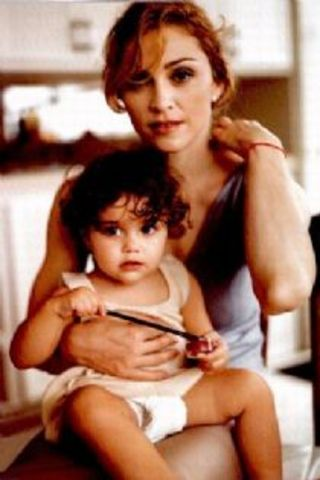Madonna gave birth to her first daughter Lourdes Maria