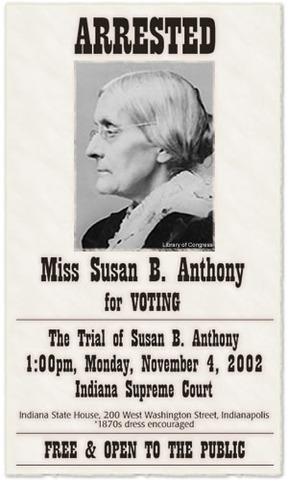 Susan B. Anthony arrested for voting