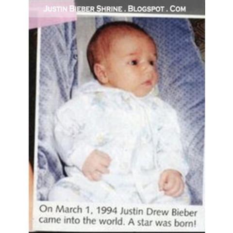 Justin was born