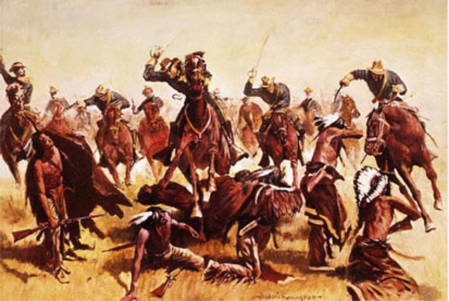 Major Native American Conflicts timeline | Timetoast timelines