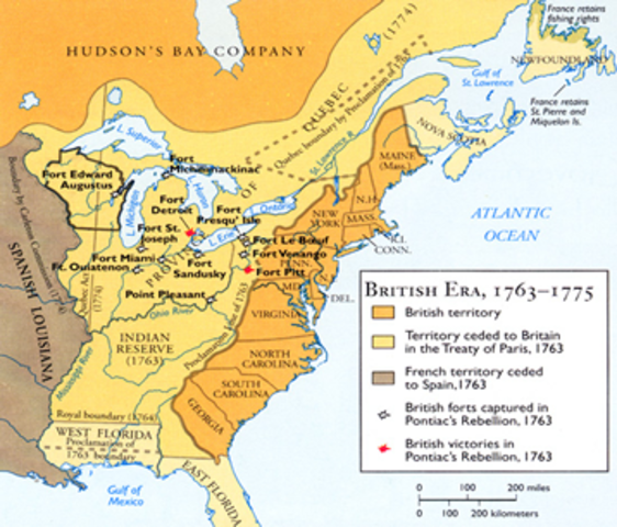 The Road to the American Revolution 17631776 timeline Timetoast