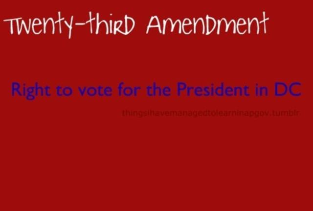 The 23rd amendment